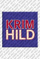 ART-DOMINO® BY SABINE WELZ Krimhild - Magnet mit dem Vornamen Krimhild
