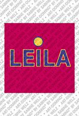 ART-DOMINO® BY SABINE WELZ Leila - Magnet mit dem Vornamen Leila
