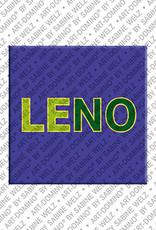 ART-DOMINO® by SABINE WELZ Leno - Aimant avec le nom Leno