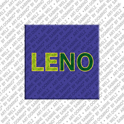 ART-DOMINO® by SABINE WELZ Leno - Magnet with the name Leno