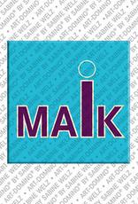 ART-DOMINO® BY SABINE WELZ Maik - Magnet mit dem Vornamen Maik