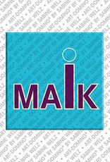 ART-DOMINO® by SABINE WELZ Maik - Magnet with the name Maik
