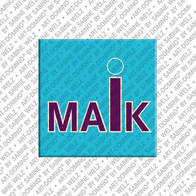 ART-DOMINO® by SABINE WELZ Maik - Aimant avec le nom Maik