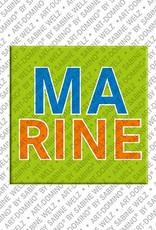 ART-DOMINO® by SABINE WELZ Marine - Magnet mit dem Vornamen Marine