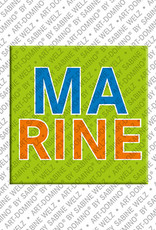 ART-DOMINO® BY SABINE WELZ Marine - Magnet with the name Marine