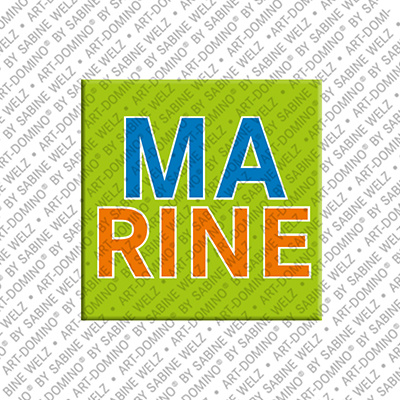 ART-DOMINO® by SABINE WELZ Marine - Aimant avec le nom Marine