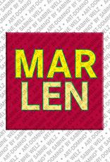 ART-DOMINO® BY SABINE WELZ Marlen - Magnet with the name Marlen
