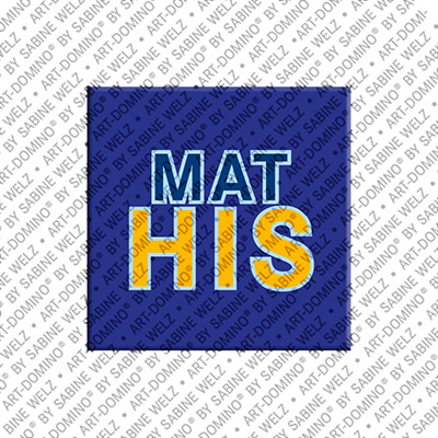 ART-DOMINO® BY SABINE WELZ Mathis - Magnet with the name Mathis