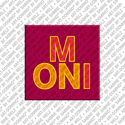 ART-DOMINO® by SABINE WELZ Moni - Aimant avec le nom Moni