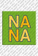 ART-DOMINO® BY SABINE WELZ Nana - Aimant avec le nom Nana