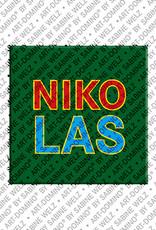 ART-DOMINO® by SABINE WELZ Nikolas - Magnet mit dem Vornamen Nikolas