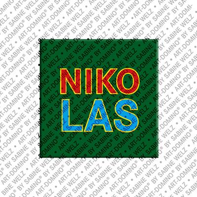 ART-DOMINO® by SABINE WELZ Nikolas - Magnet with the name Nikolas