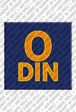 ART-DOMINO® by SABINE WELZ Odin - Aimant avec le nom Odin