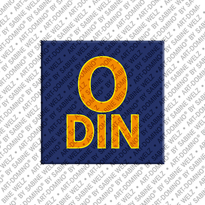 ART-DOMINO® BY SABINE WELZ Odin - Magnet mit dem Vornamen Odin