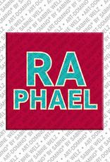ART-DOMINO® by SABINE WELZ Raphael - Magnet mit dem Vornamen Raphael