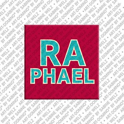ART-DOMINO® by SABINE WELZ Raphael - Aimant avec le nom Raphael
