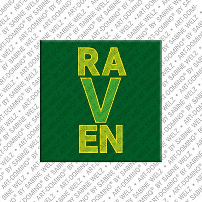 ART-DOMINO® by SABINE WELZ Raven - Magnet mit dem Vornamen Raven