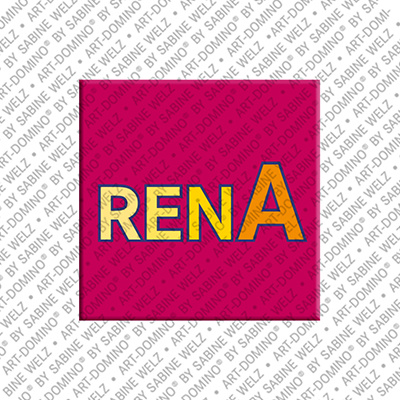 ART-DOMINO® by SABINE WELZ Rena - Magnet with the name Rena - 2