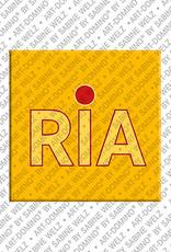 ART-DOMINO® by SABINE WELZ Ria - Magnet mit dem Vornamen Ria