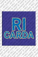 ART-DOMINO® by SABINE WELZ Ricarda - Magnet mit dem Vornamen Ricarda