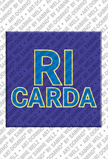 ART-DOMINO® by SABINE WELZ Ricarda - Magnet with the name Ricarda