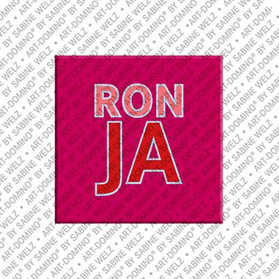 ART-DOMINO® by SABINE WELZ Ronja - Aimant avec le nom Ronja