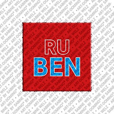 ART-DOMINO® by SABINE WELZ Ruben - Magnet mit dem Vornamen Ruben