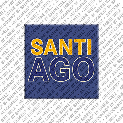 ART-DOMINO® by SABINE WELZ Santiago - Aimant avec le nom Santiago