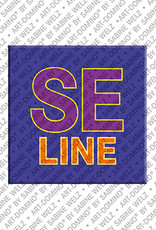 ART-DOMINO® by SABINE WELZ Seline - Magnet mit dem Vornamen Seline