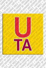 ART-DOMINO® BY SABINE WELZ Uta - Aimant avec le nom Uta