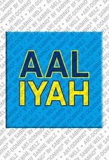 ART-DOMINO® BY SABINE WELZ Aaliyah - Magnet mit dem Vornamen Aaliyah