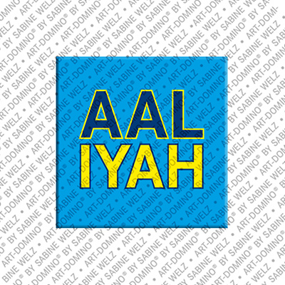 ART-DOMINO® by SABINE WELZ Aaliyah - Aimant avec le nom Aaliyah