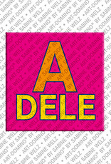 ART-DOMINO® by SABINE WELZ Adele - Aimant avec le nom Adele