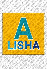 ART-DOMINO® BY SABINE WELZ Alisha - Magnet mit dem Vornamen Alisha