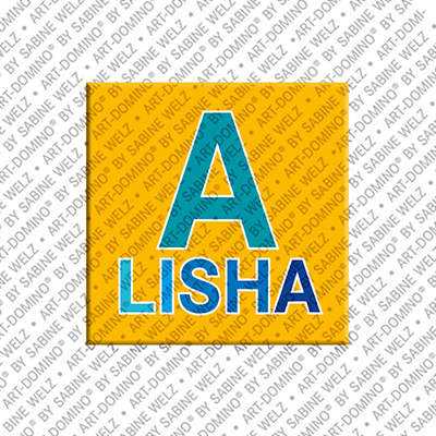 ART-DOMINO® by SABINE WELZ Alisha - Aimant avec le nom Alisha