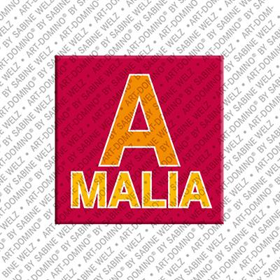 ART-DOMINO® BY SABINE WELZ Amalia - Magnet mit dem Vornamen Amalia