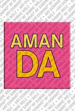 ART-DOMINO® by SABINE WELZ Amanda - Aimant avec le nom Amanda