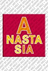 ART-DOMINO® BY SABINE WELZ Anastasia - Magnet mit dem Vornamen Anastasia