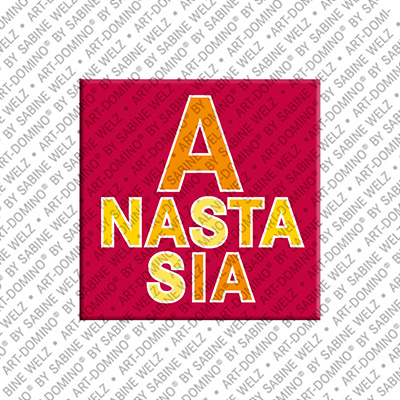 ART-DOMINO® by SABINE WELZ Anastasia - Aimant avec le nom Anastasia