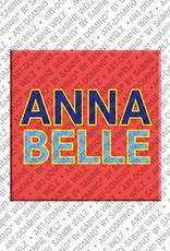 ART-DOMINO® BY SABINE WELZ Annabelle - Magnet mit dem Vornamen Annabelle