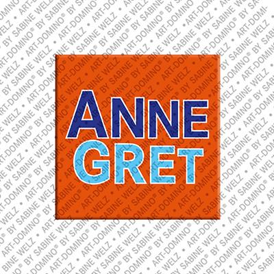 ART-DOMINO® BY SABINE WELZ Annegret - Magnet mit dem Vornamen Annegret