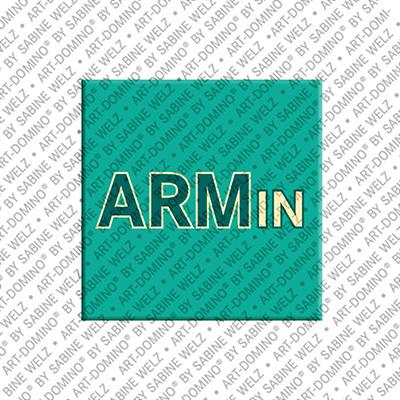 ART-DOMINO® BY SABINE WELZ Armin - Magnet mit dem Vornamen Armin