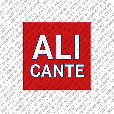 ART-DOMINO® BY SABINE WELZ Alicante - Schriftzug