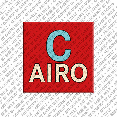 ART-DOMINO® BY SABINE WELZ Cairo - Schriftzug