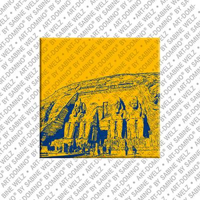 ART-DOMINO® BY SABINE WELZ Ägypten - Abu Simbel - Tempelanlage für Ramses II