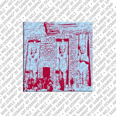 ART-DOMINO® BY SABINE WELZ Ägypten - Abu Simbel - Hathor Tempel für Nefertari