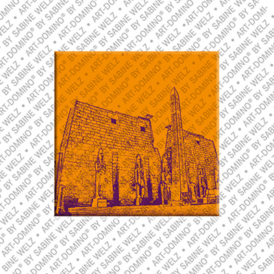 ART-DOMINO® BY SABINE WELZ Ägypten - Luxor: Luxor-Tempel Phylon