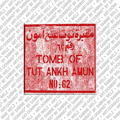 ART-DOMINO® BY SABINE WELZ Ägypten - Luxor West: Tal der Könige-Grabschild von Tutanchamun