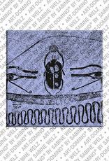 ART-DOMINO® BY SABINE WELZ Ägypten - Tal der Könige Malerei Scarabäus im K.V.6  Ramses IX