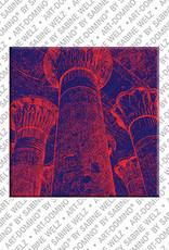 ART-DOMINO® BY SABINE WELZ Ägypten - Esna-ChnumTempel: Säulenhalle mit Schöpfungstheorien